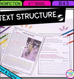 Text Structure in Nonfiction 4th Grade   Common Core Kingdom [ 1800 x 1800 Pixel ]