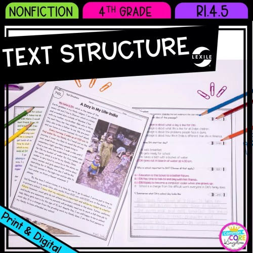 small resolution of Text Structure in Nonfiction 4th Grade   Common Core Kingdom