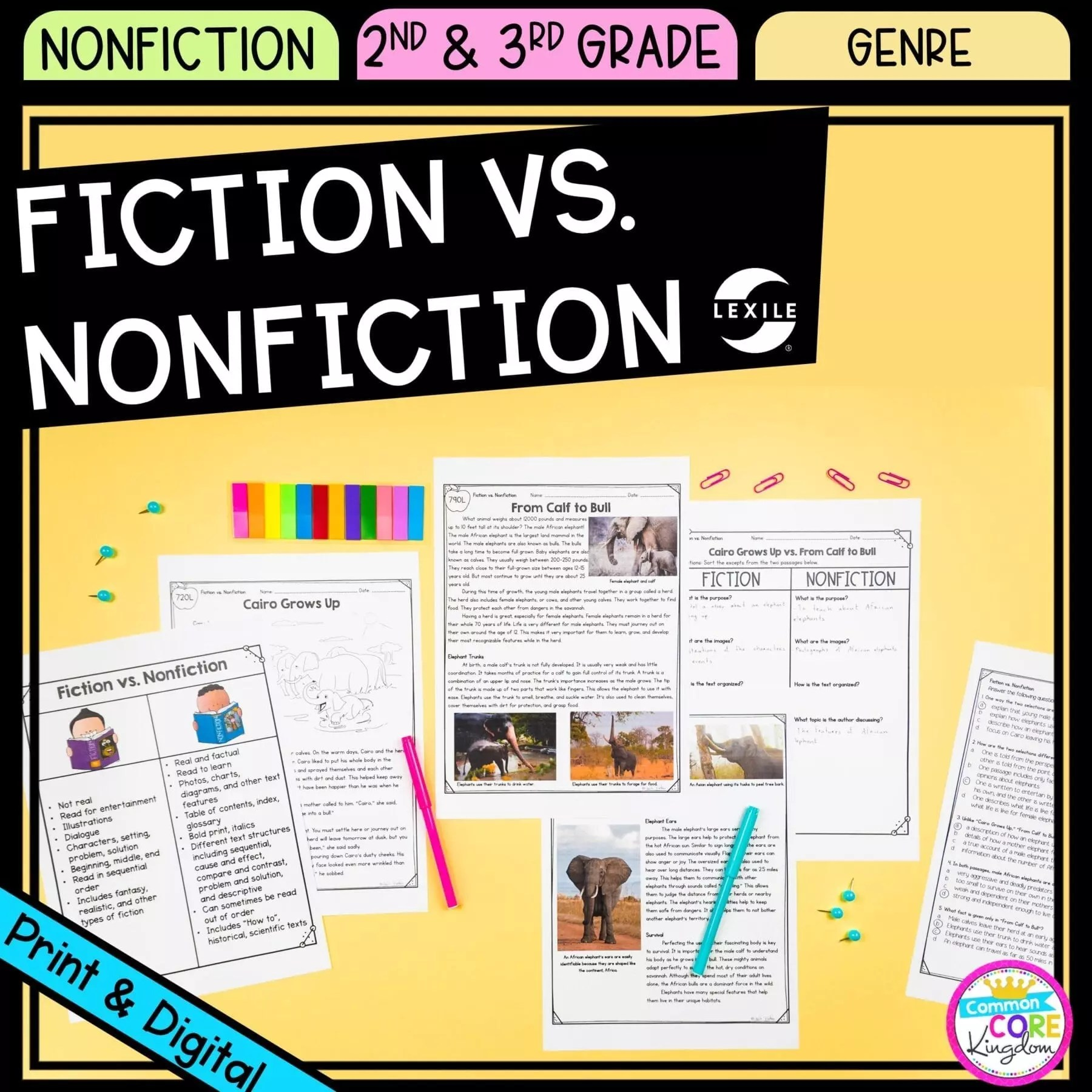 hight resolution of Fiction vs. Nonfiction - 2nd \u0026 3rd Grade - Google Distance Learning    Common Core Kingdom