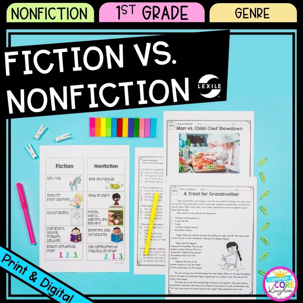 medium resolution of Fiction vs. Nonfiction - 1st Grade - Google Distance Learning   Common Core  Kingdom
