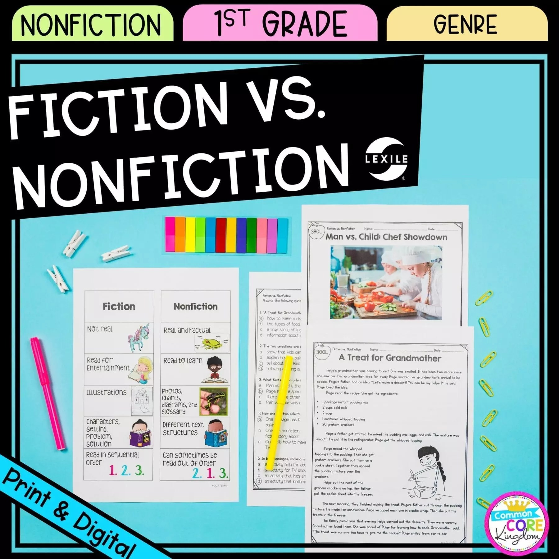 hight resolution of Fiction vs. Nonfiction - 1st Grade - Google Distance Learning   Common Core  Kingdom