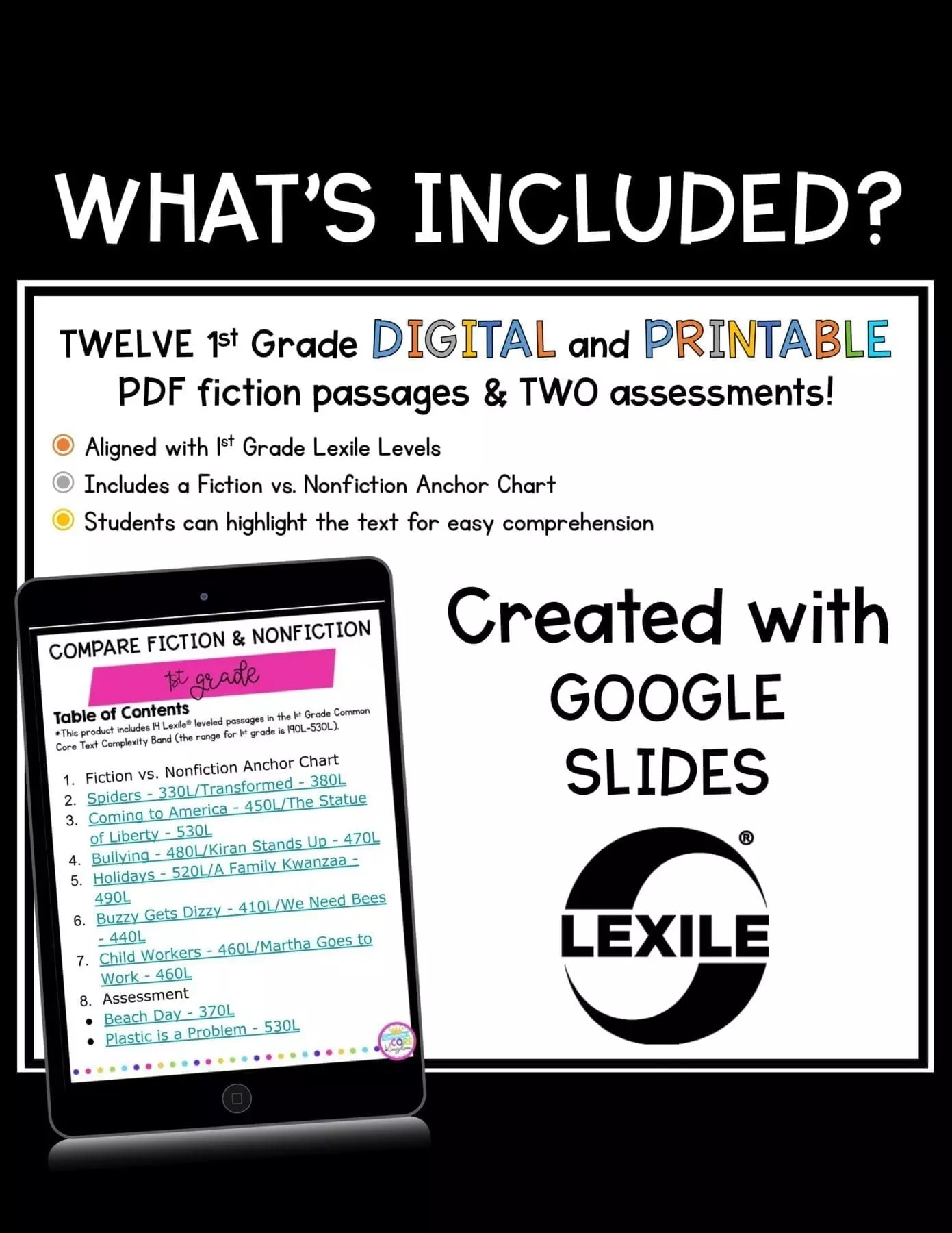 hight resolution of compare fiction and nonfiction 1st grade  rl.1.5 google slides