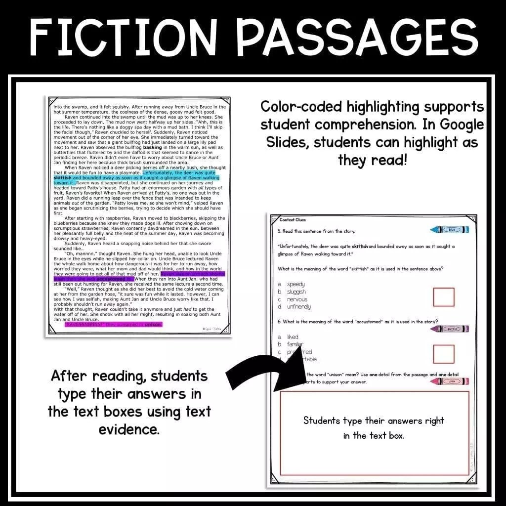 hight resolution of Context Clues in Stories RL.4.4 RL.5.4  Common Core Kingdom