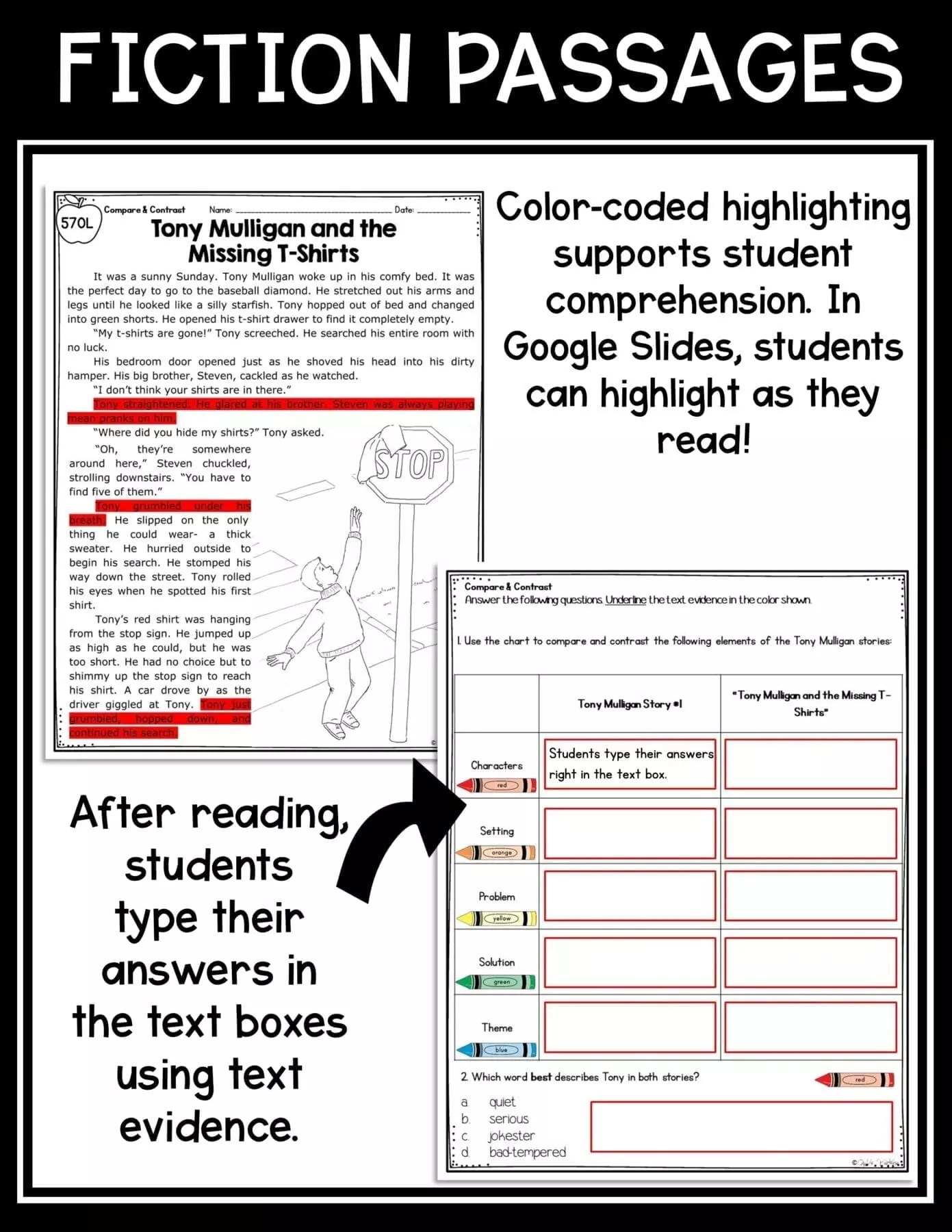 medium resolution of Compare and Contrast Stories in a Series  Common Core Kingdom