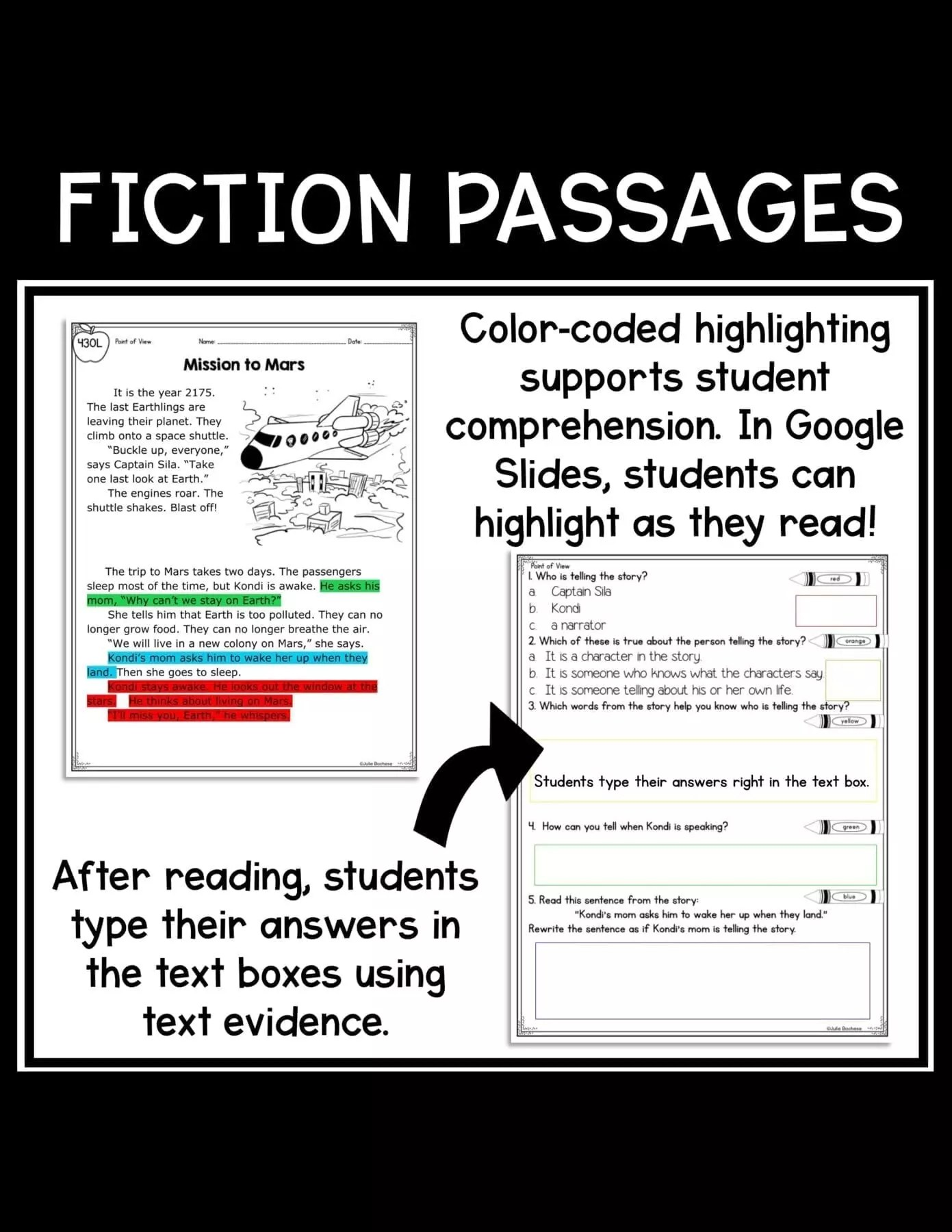 Point of View 1st Grade   RL.1.6 Google Slides Distance Learning Pack [ 1800 x 1391 Pixel ]