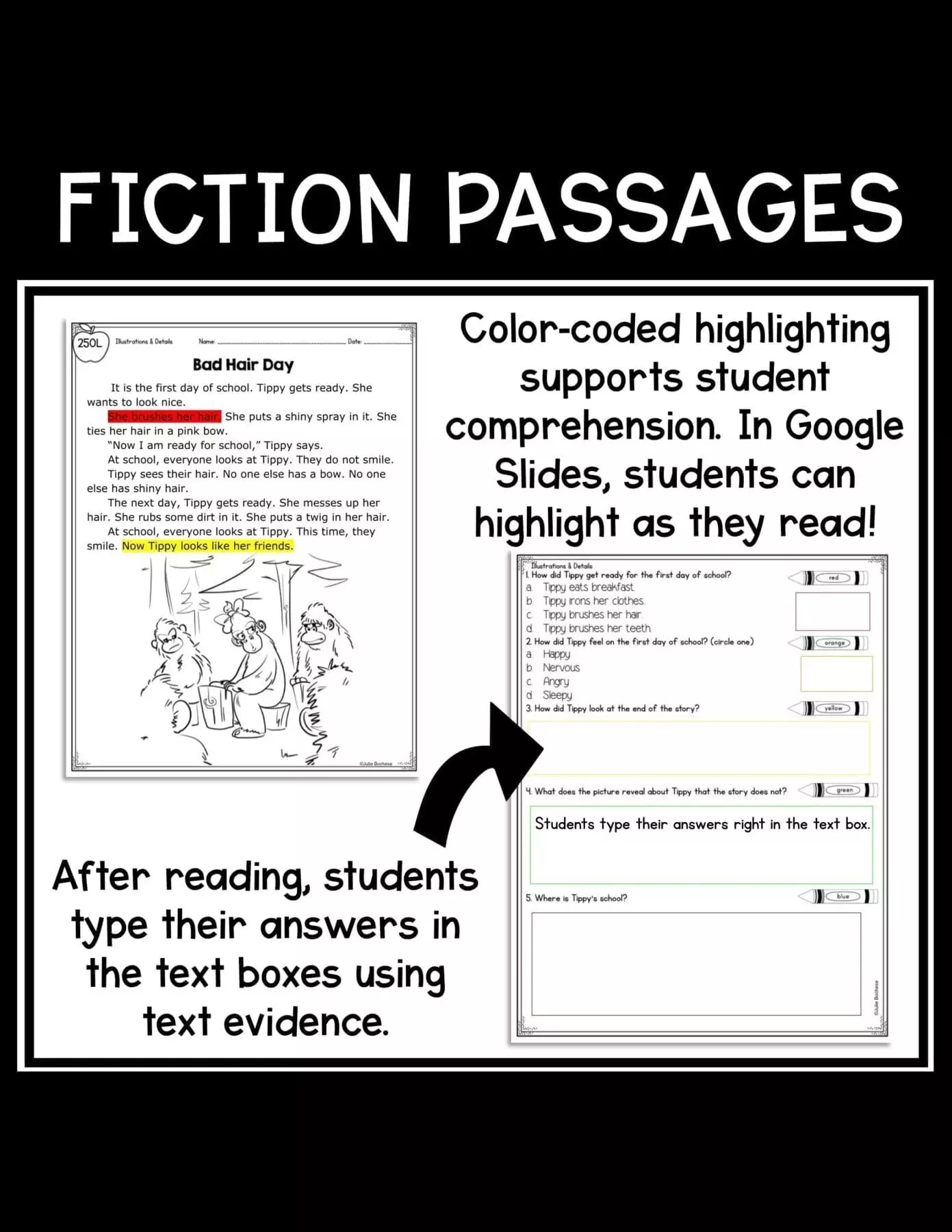 small resolution of Illustrations in Stories 1st Grade   RL.1.7 Google Slides Distance Learning