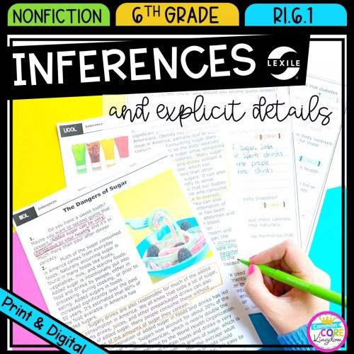 small resolution of Making Inferences 6th Grade RI.6.1  Common Core Kingdom