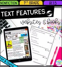 Nonfiction Text Features - 1st Grade RI.1.5 Printable \u0026 Digital Google  Slide Distance Learning Pack   Common Core Kingdom [ 1800 x 1800 Pixel ]