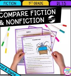 compare fiction and nonfiction 1st grade  rl.1.5 google slides [ 1800 x 1800 Pixel ]