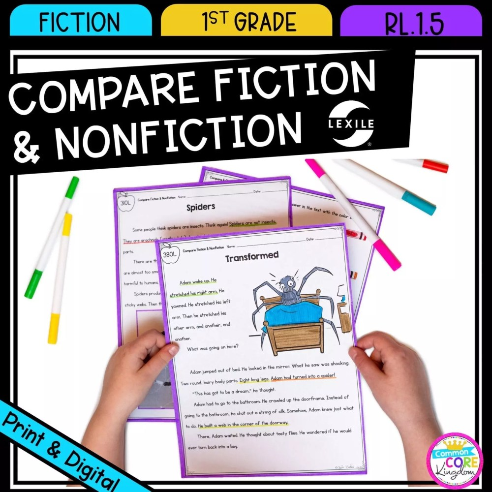 medium resolution of compare fiction and nonfiction 1st grade  rl.1.5 google slides