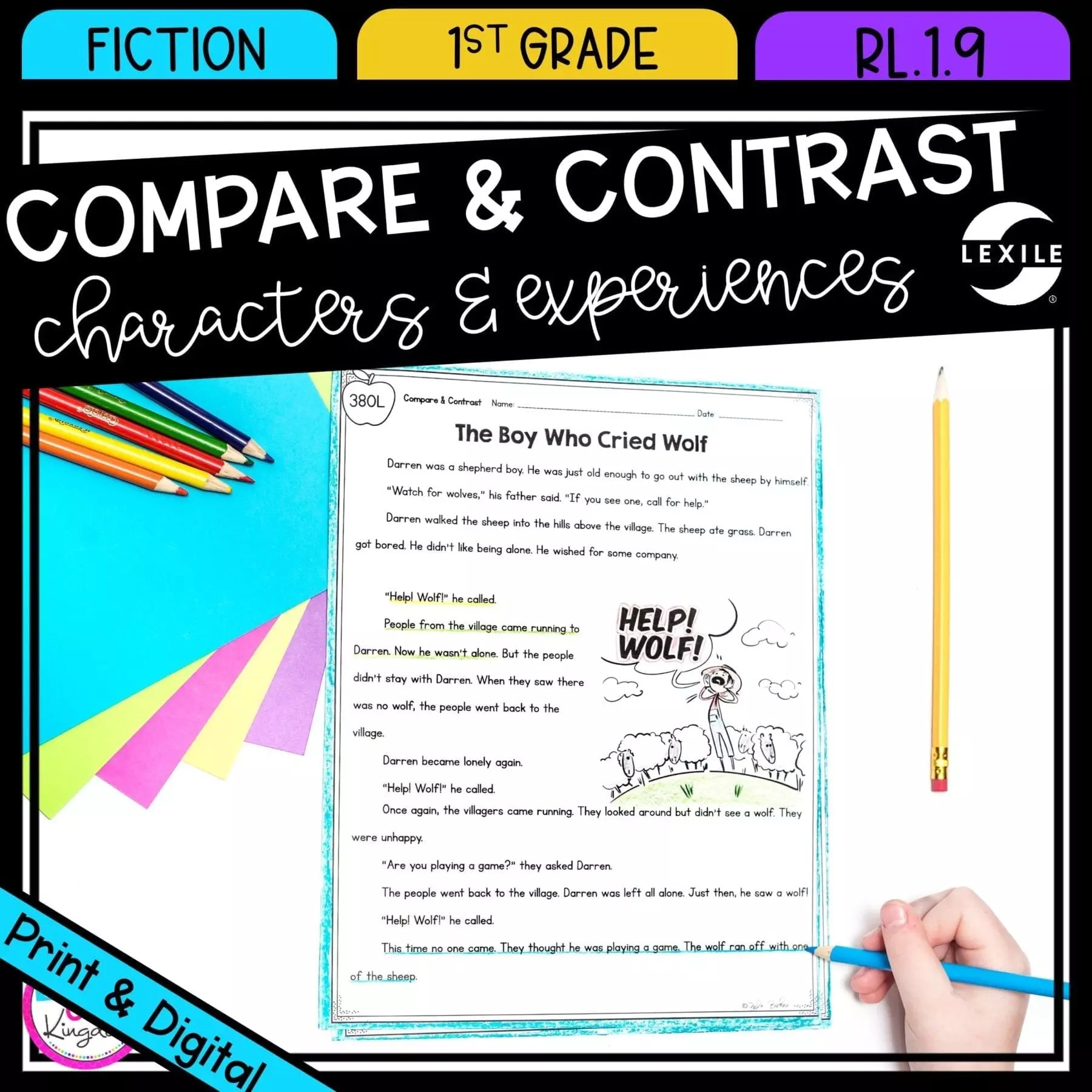 hight resolution of compare contrast stories in fiction RL.1.9   Common Core Kingdom