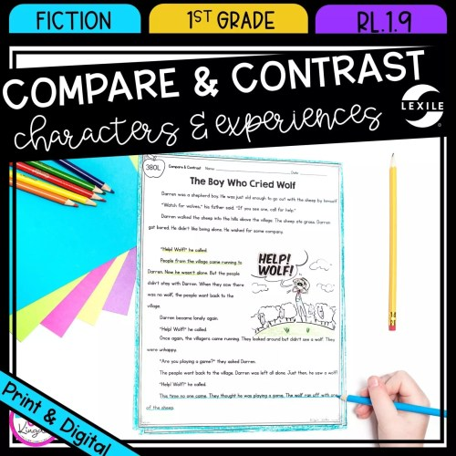 small resolution of compare contrast stories in fiction RL.1.9   Common Core Kingdom