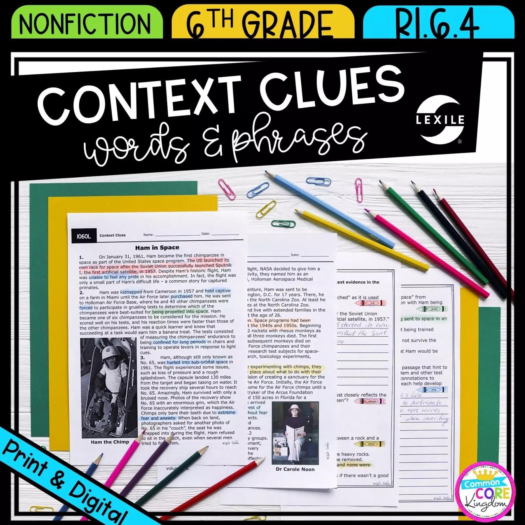 hight resolution of Context Clues 6th Grade RI.6.4   Common Core Kingdom