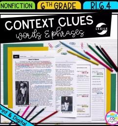 Context Clues 6th Grade RI.6.4   Common Core Kingdom [ 1800 x 1800 Pixel ]