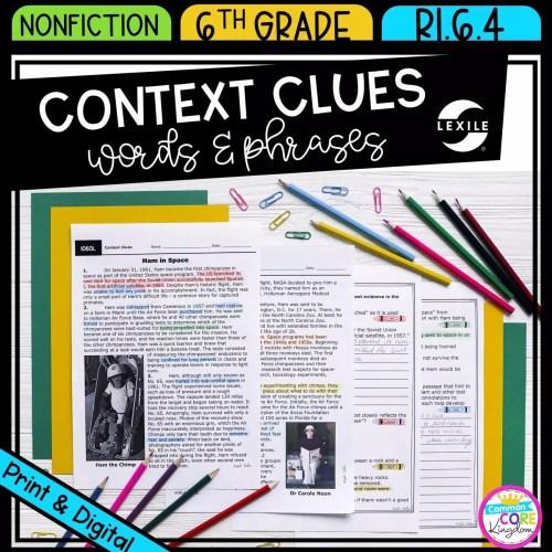 small resolution of Context Clues 6th Grade RI.6.4   Common Core Kingdom
