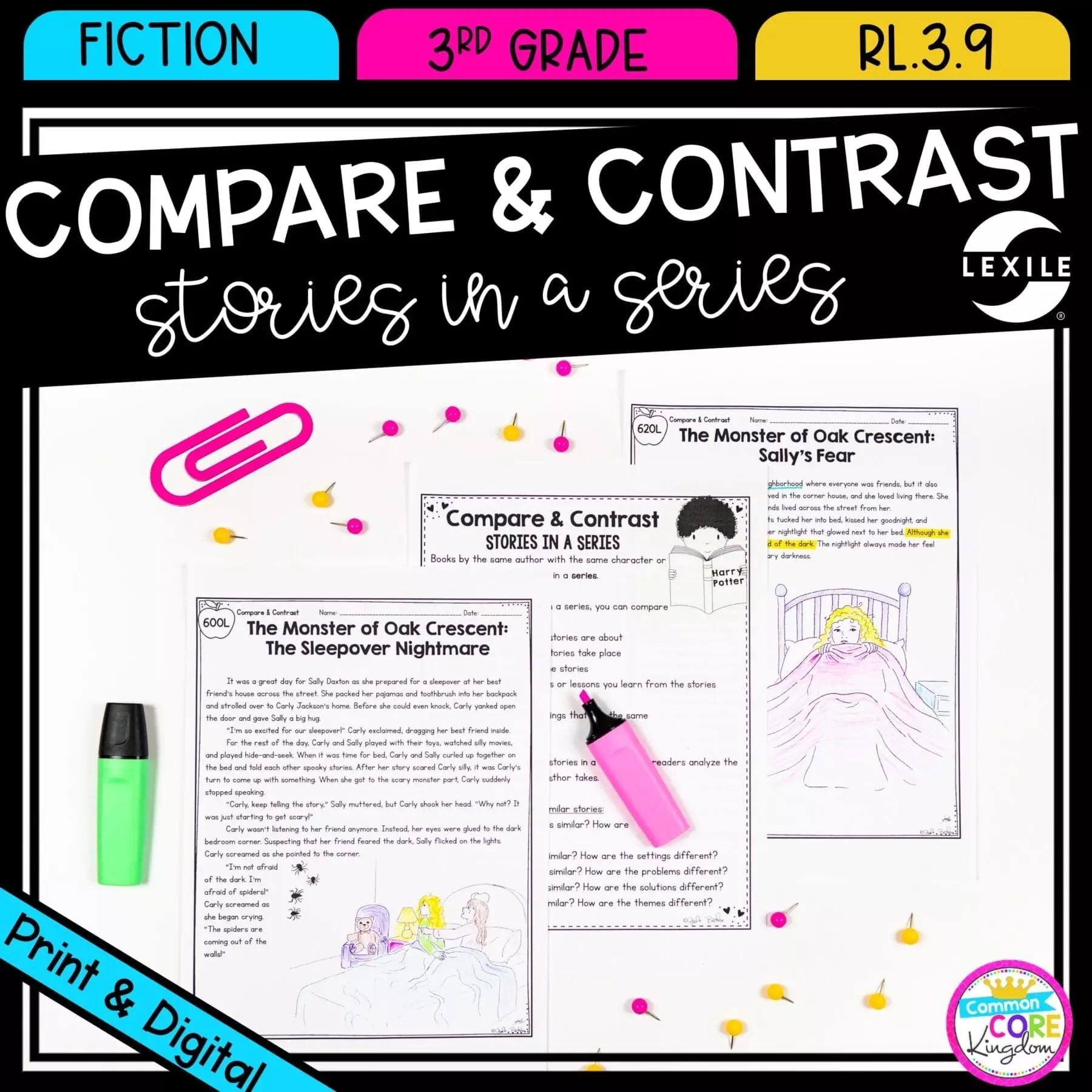 hight resolution of Compare and Contrast Stories in a Series  Common Core Kingdom