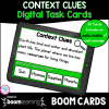 Context Clues Digital Task Cards in Boom Cards for Distance Learning Cover