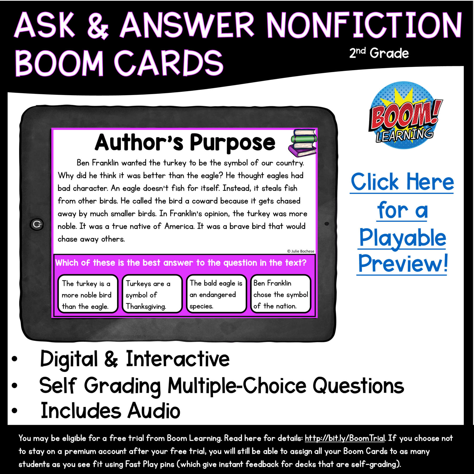 hight resolution of Author's Purpose Boom Cards 2nd \u0026 3rd Grade   Common Core Kingdom