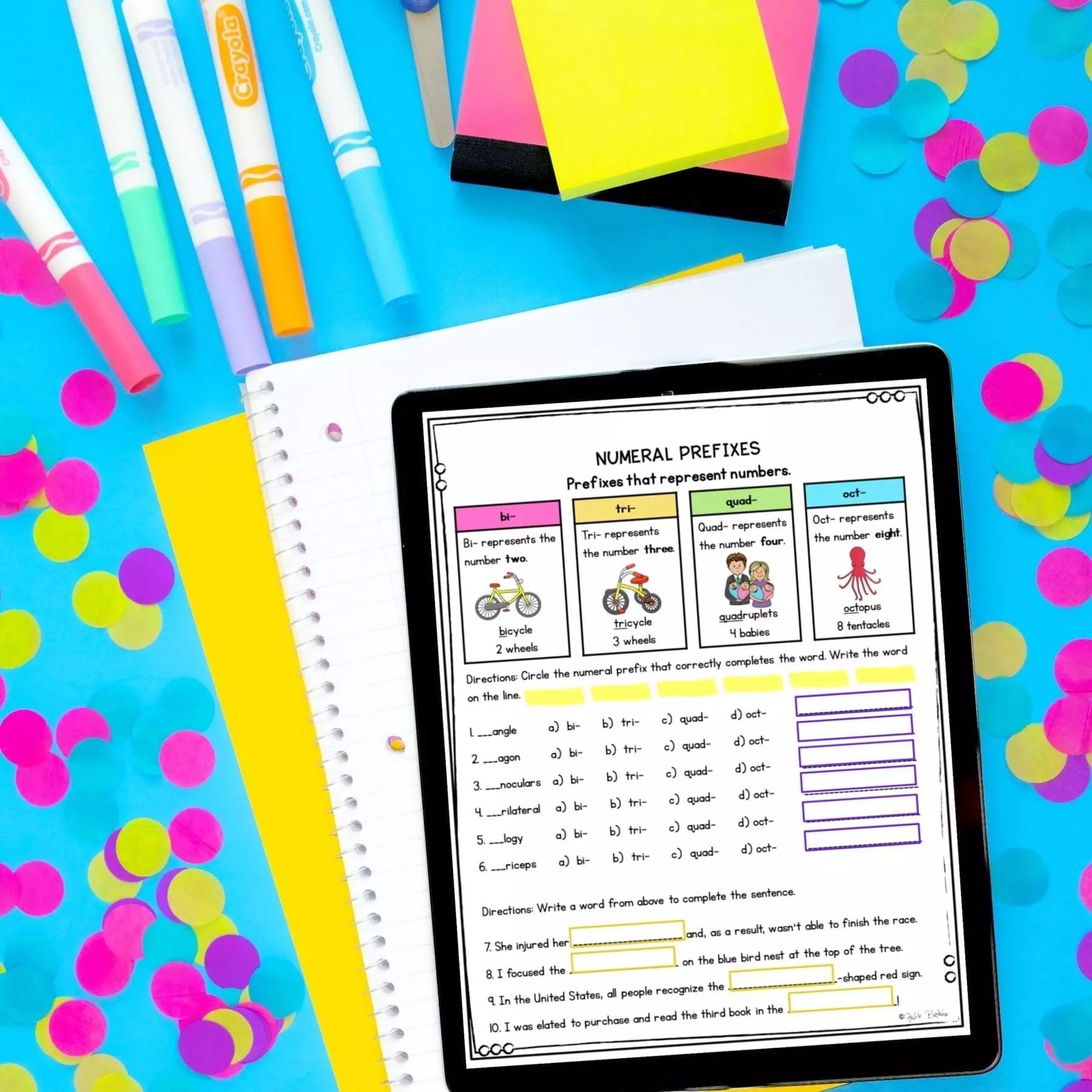 4th Grade Affixes Unit \u0026 Task Cards - PDF \u0026 Google Slides Distance Learning  Pack   Common Core Kingdom [ 1800 x 1800 Pixel ]