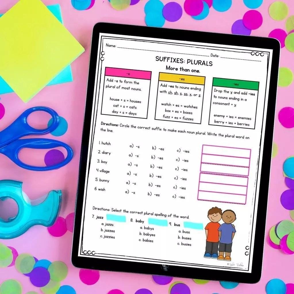 medium resolution of 3rd Grade Affixes Unit \u0026 Task Cards - PDF \u0026 Google Slides Distance Learning  Pack   Common Core Kingdom
