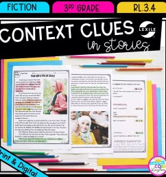 Context Clues in Stories RL.3.4   Common Core Kingdom [ 1800 x 1800 Pixel ]