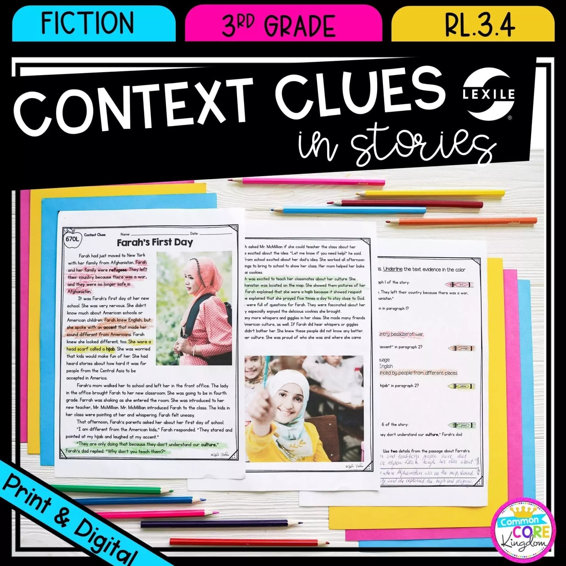hight resolution of Context Clues in Stories RL.3.4   Common Core Kingdom