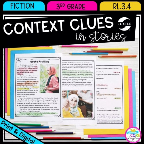 small resolution of Context Clues in Stories RL.3.4   Common Core Kingdom
