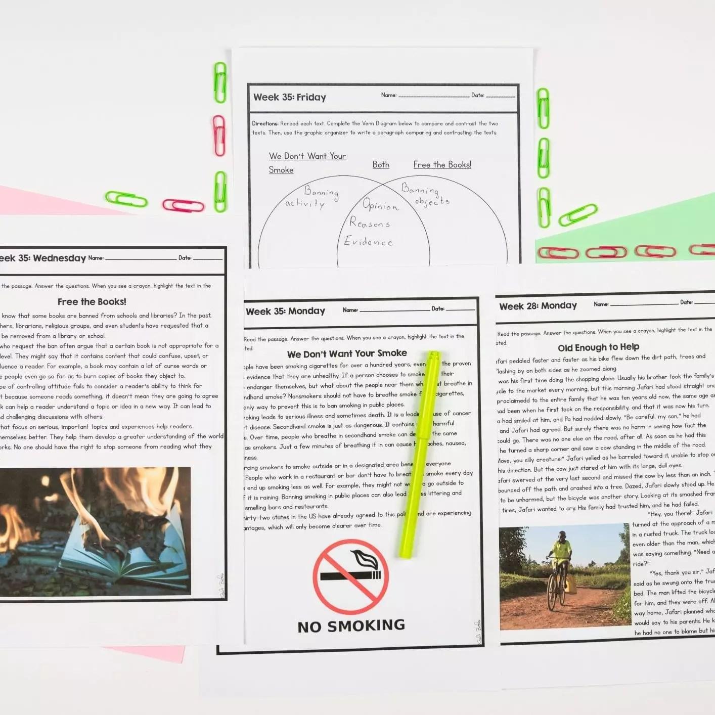 4th Grade Reading Spiral Review - Quarter 4   Common Core Kingdom   [ 1414 x 1414 Pixel ]