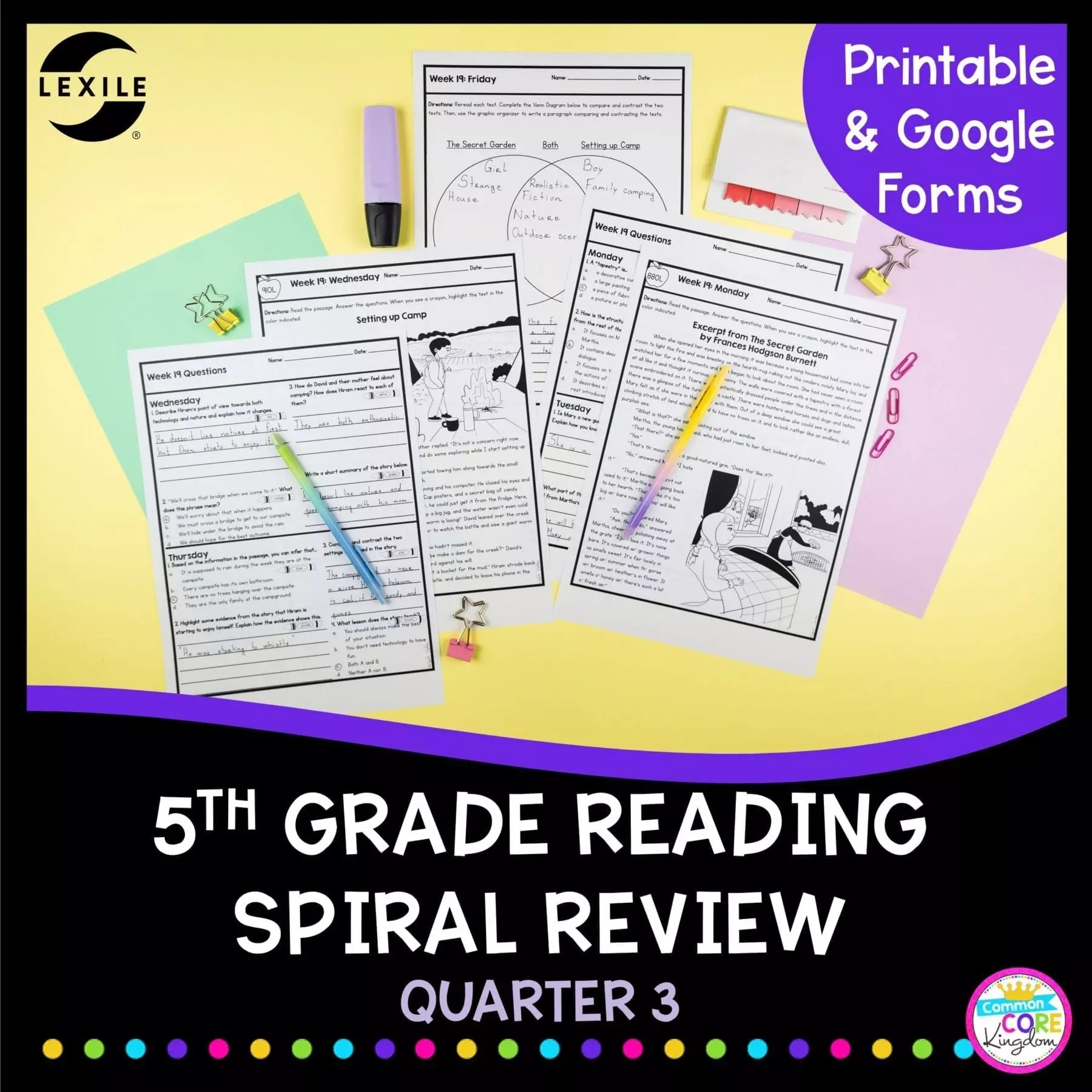 5th Grade Spiral Review   2nd Quarter Distance \u0026 Classroom Learning [ 1800 x 1800 Pixel ]