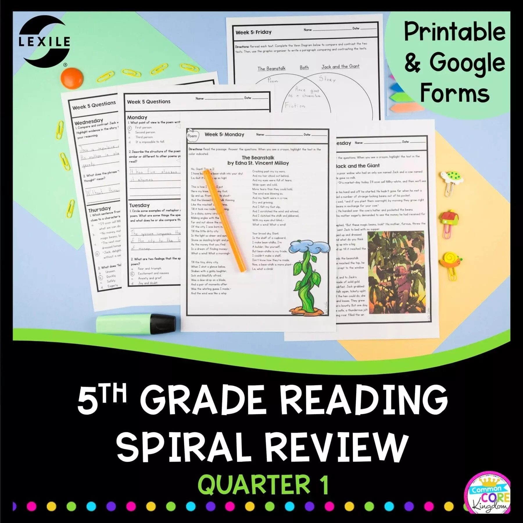 5th Grade Spiral Review   First Quarter Distance \u0026 Classroom Learning [ 1800 x 1800 Pixel ]