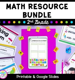 2nd Grade Math Bundle   Printable PDF \u0026 Google Distance Learning [ 1800 x 1800 Pixel ]