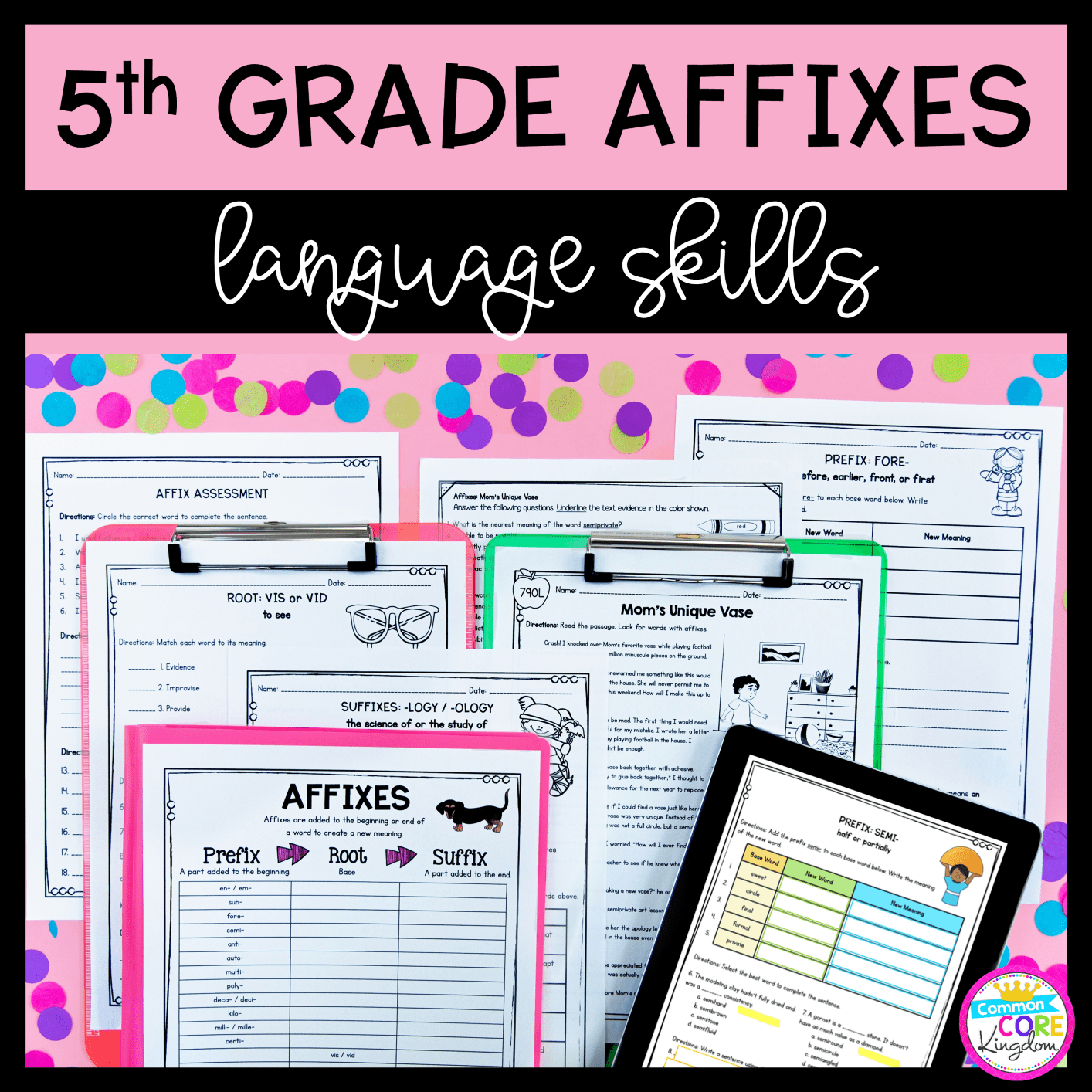 hight resolution of 5th Grade Affixes Unit \u0026 Task Cards - PDF \u0026 Google Slides Distance Learning  Pack   Common Core Kingdom