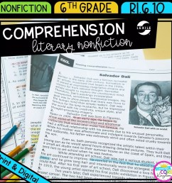 Literary Nonfiction Reading Comprehension   Common Core Kingdom [ 1800 x 1800 Pixel ]