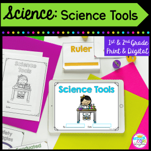 science tools for first and second grade distance learning cover