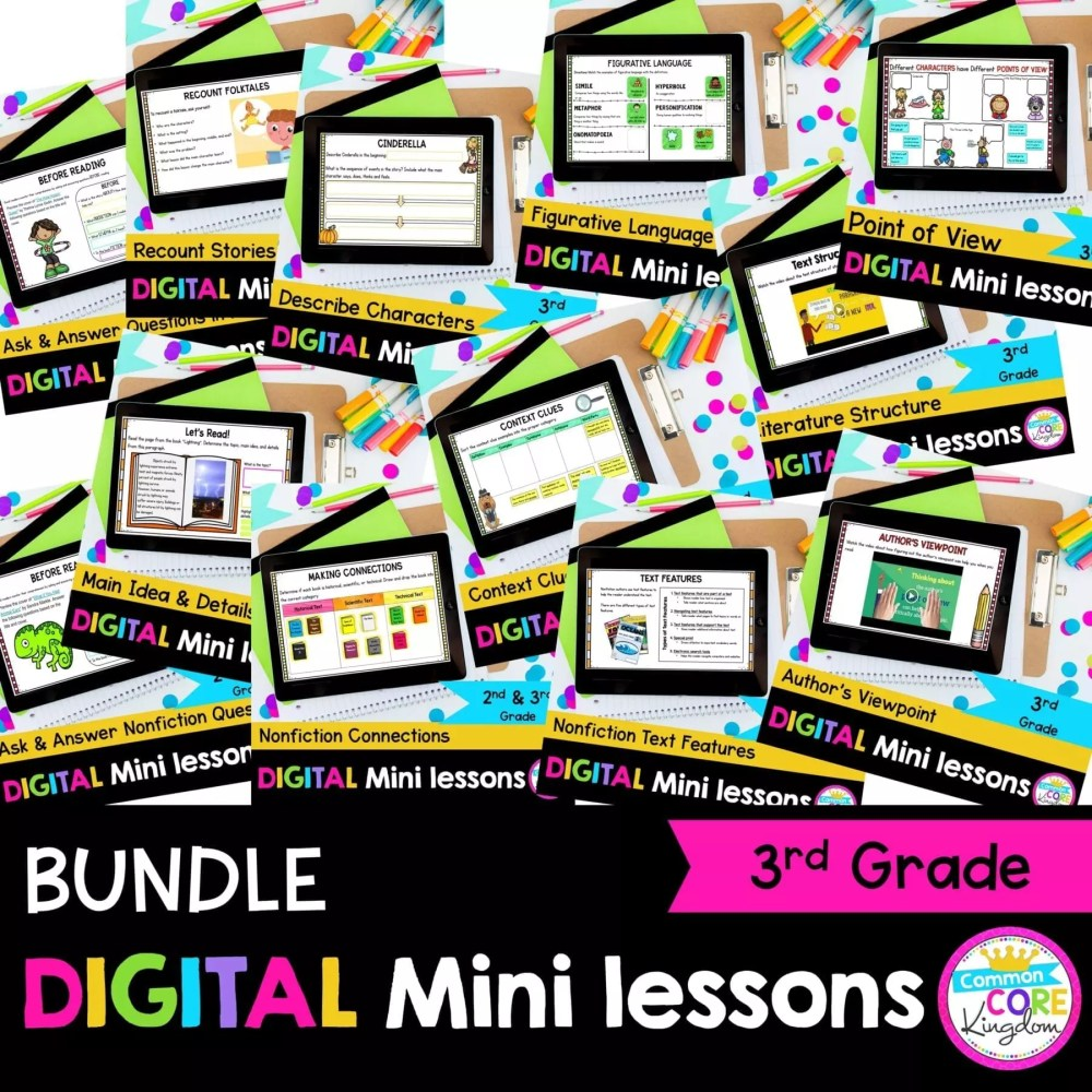 medium resolution of 3rd Grade Reading Mini Lessons Bundle for Google \u0026 Seesaw Distance Learning    Common Core Kingdom
