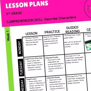RL.3.3 Lesson Plans