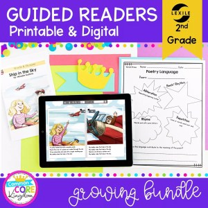 Guided Reading 2nd Grade Bundle - Printable & Digital Distance Learning