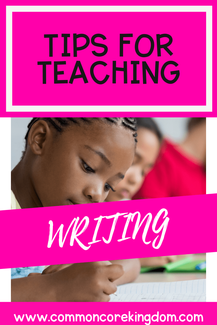 Tips for Teaching Writing Workshop blog cover and pin