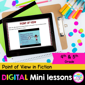 Digital mini lesson R.L4.6/5.6 character point of view cover displaying digital resource in Google Slides.