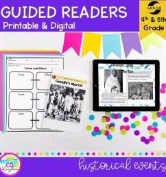 Historical Events Guided Reading   4th \u0026 5th Grade - Print \u0026 Digital  Resource [ 1800 x 1800 Pixel ]