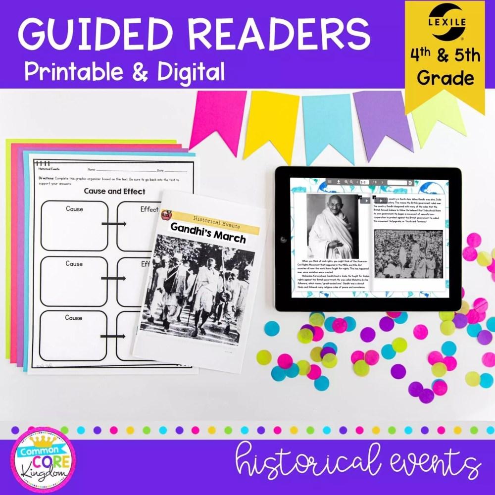 medium resolution of Historical Events Guided Reading   4th \u0026 5th Grade - Print \u0026 Digital  Resource