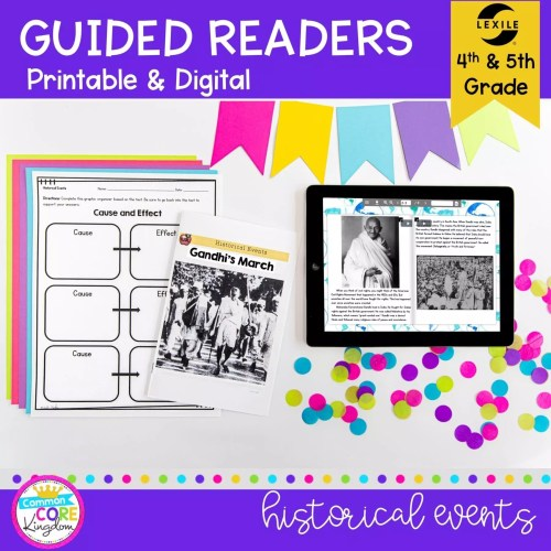 small resolution of Historical Events Guided Reading   4th \u0026 5th Grade - Print \u0026 Digital  Resource
