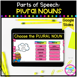 Singular Plural Noun in Google Slides Format
