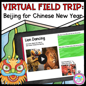 Virtual Field Trip Beijing for Chinese New Year on a tablet