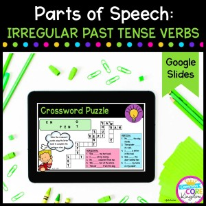 Irregular Past Tense Verbs for 2nd & 3rd Grade in Google Slides Format