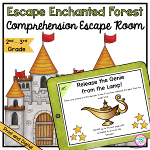 Comprehension Review Escape Room for 2nd & 3rd Grade