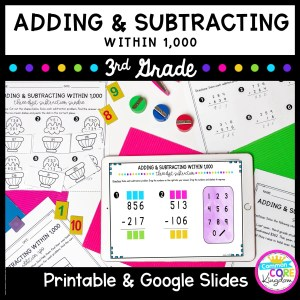 Adding & Subtracting to 1,000 3rd Grade Math in Google Slides Format