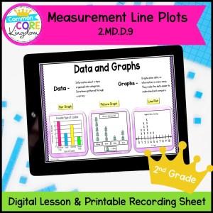 Line Plots Digital Mini Lesson for 2nd Grade in Google Slides Format