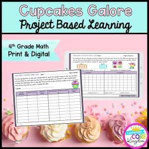 4th Grade Cupcake Galore Project Based Learning in Printable & Digital Format