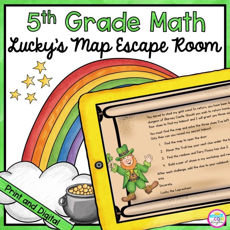 5th Grade Math Escape Room Lucky's Map